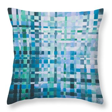 Throw Pillow featuring the mixed media Ocean by Jan Bickerton
