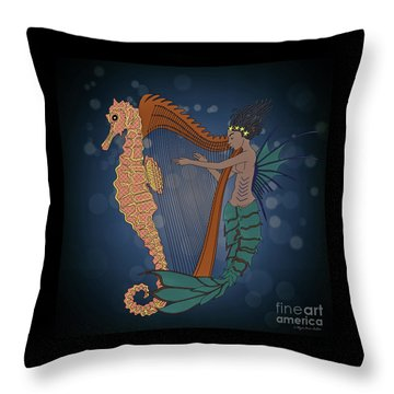 Ocean Lullaby1 Throw Pillow