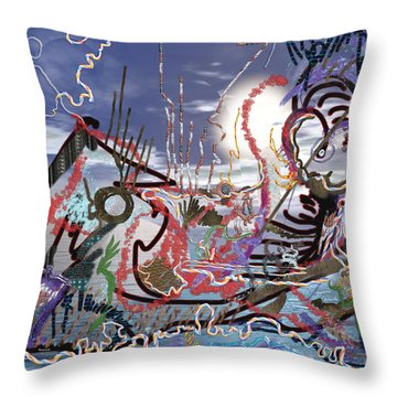Ocean Throw Pillow by Marko Mitic