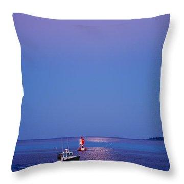 Ocean Moonrise Throw Pillow