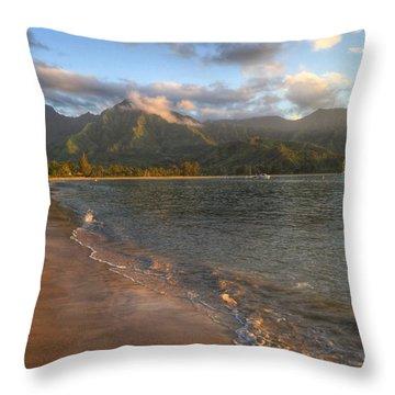 Ocean Mountains Throw Pillow