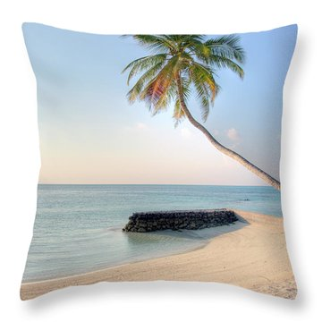Ocean Palm Throw Pillow by Shawn Everhart