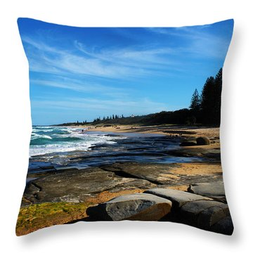 Ocean Perspective Throw Pillow by Susan Vineyard