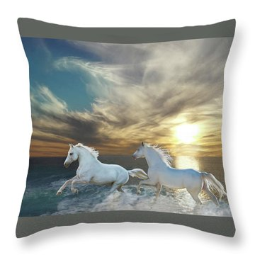 Ocean Play Throw Pillow