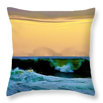 Ocean Power Throw Pillow by Blair Stuart