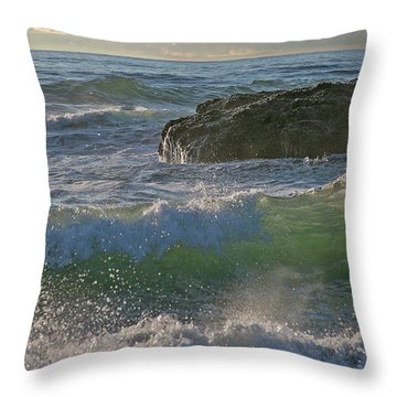 Throw Pillow featuring the photograph Crashing Waves by Elvira Butler