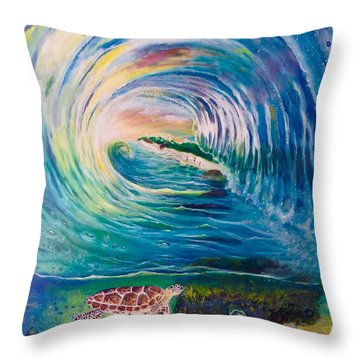 Ocean Reef Beach Throw Pillow