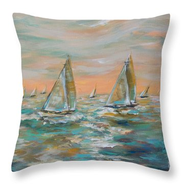Ocean Regatta Throw Pillow