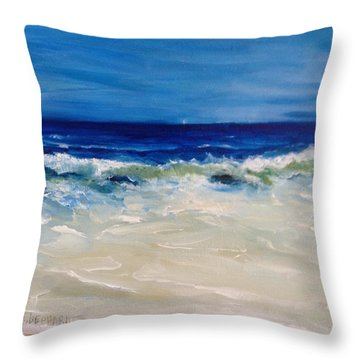 Ocean Roar Throw Pillow
