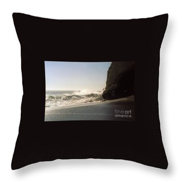 Ocean Rock Beach Headlands Throw Pillow