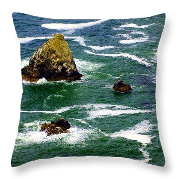 Ocean Rock Throw Pillow by Marty Koch