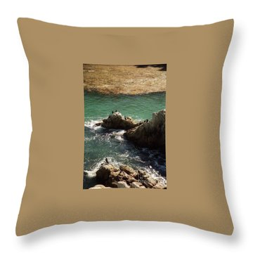 Ocean Rock Near Carmel Throw Pillow