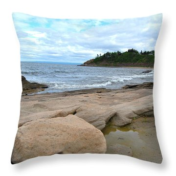 Ocean Rocks - Nova Scotia Throw Pillow