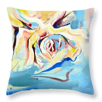 Throw Pillow featuring the painting Ocean Rose by John Jr Gholson
