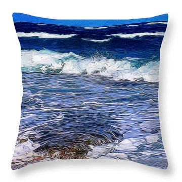 Ocean Scene In Abstract 14 Throw Pillow