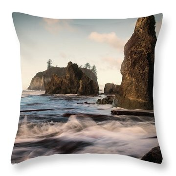 Throw Pillow featuring the photograph Ocean Spire Signature Series by Chris McKenna