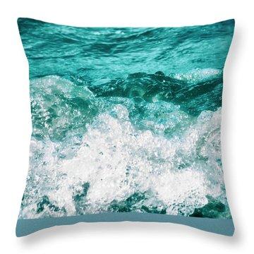 Ocean Splashes Throw Pillow by Wim Lanclus