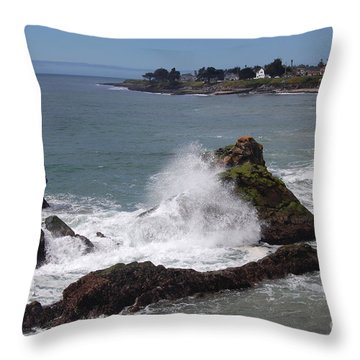 Ocean Spray West Cliff Throw Pillow