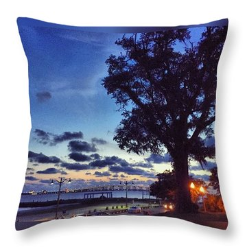 Ocean Springs Evening #frontbeach Throw Pillow