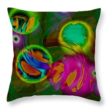 Throw Pillow featuring the digital art Ocean Storm by Lynda Lehmann