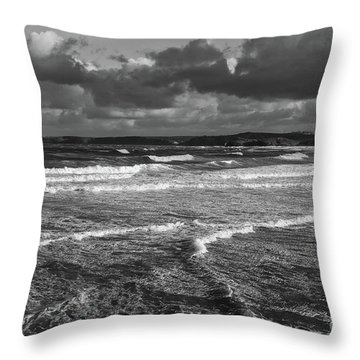 Ocean Storms Throw Pillow by Nicholas Burningham
