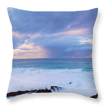 Ocean Sun Rise Throw Pillow
