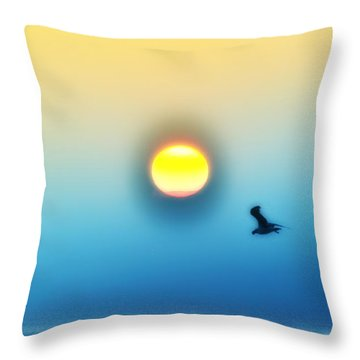 Ocean Sunrise Throw Pillow by Bill Cannon