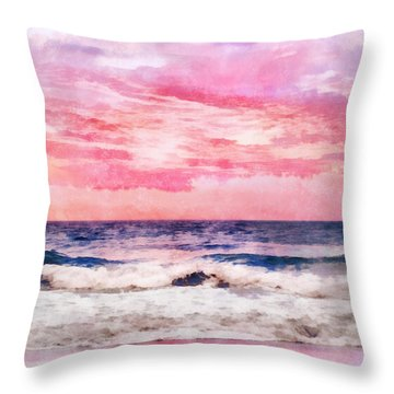 Throw Pillow featuring the digital art Ocean Sunrise by Francesa Miller