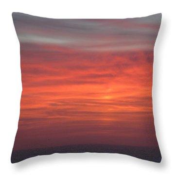 Ocean Sunrise Throw Pillow by Kathy Long