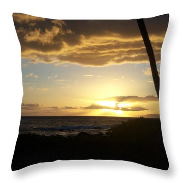 Ocean Sunset Throw Pillow