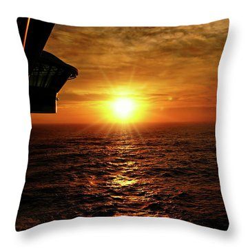 Ocean Sunset Throw Pillow by Sue Melvin