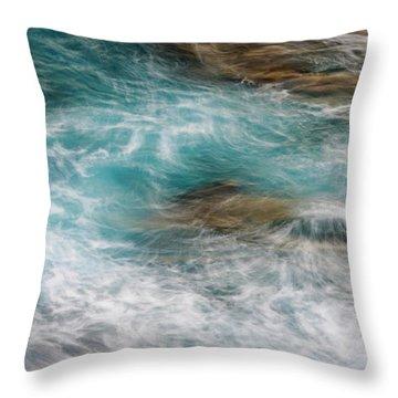 Ocean Surge Throw Pillow