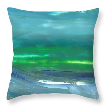 Ocean Swell Throw Pillow