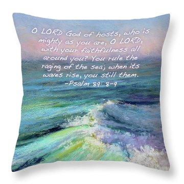 Ocean Symphony With Bible Verse Throw Pillow