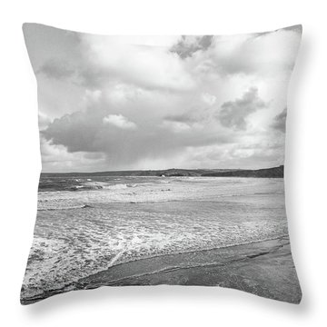 Ocean Texture Study Throw Pillow