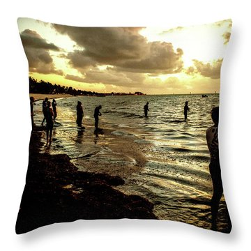 Ocean Thinker Throw Pillow