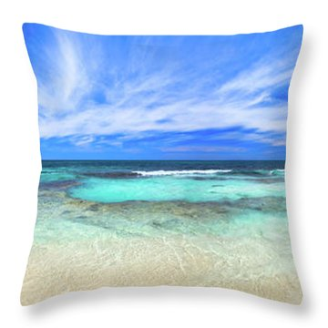 Ocean Tranquility, Yanchep Throw Pillow by Dave Catley