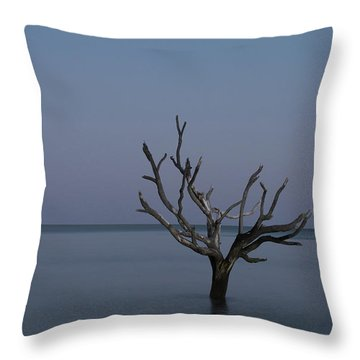 Ocean Tree Throw Pillow