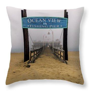 Ocean View Pier Throw Pillow