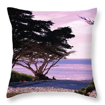 Ocean Views From Carmel Beach  Throw Pillow