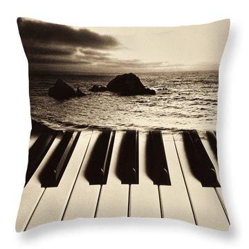 Ocean Washing Over Keyboard Throw Pillow