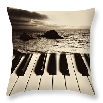 Ocean Washing Over Keyboard Throw Pillow by Garry Gay