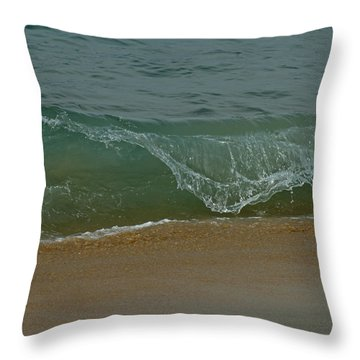 Ocean Wave Throw Pillow by Ernie Echols