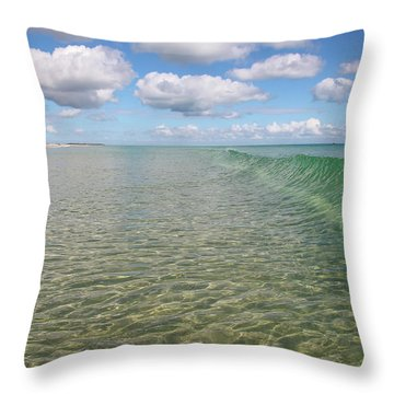 Ocean Waves And Clouds Rollin' By Throw Pillow