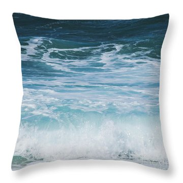 Ocean Waves From The Depths Of The Stars Throw Pillow by Sharon Mau