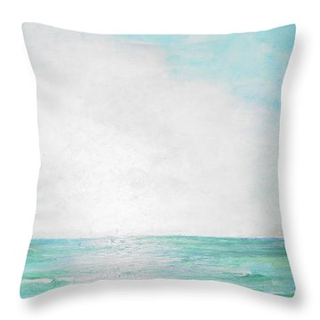 Ocean Waves Throw Pillow by Robin Miller-Bookhout