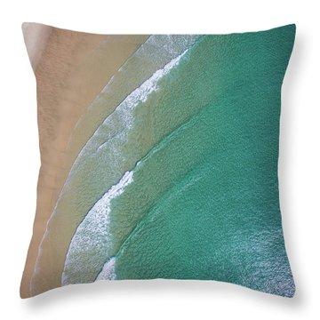Ocean Waves Upon The Beach Throw Pillow
