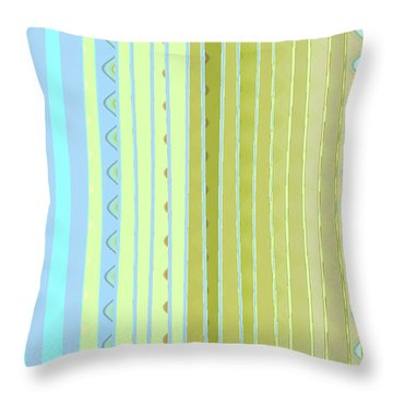 Oceana Stripes Throw Pillow