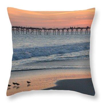 Oceanana Shorebirds Throw Pillow