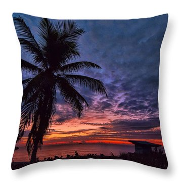 Oceanfront Before Sunrise Throw Pillow by Don Durfee